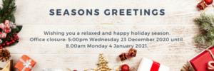 Seasons Greetings Email Footer